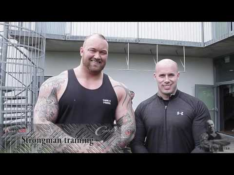 KT Challenging The Mountain and strongman Hafthor Björnsson