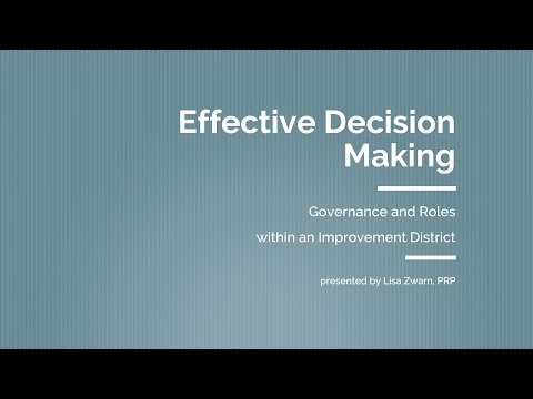 Coastal Water Suppliers Association: Effective Decision Making