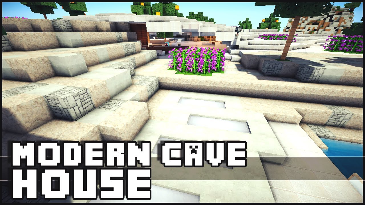 Minecraft Epic Modern Cave House YouTube
