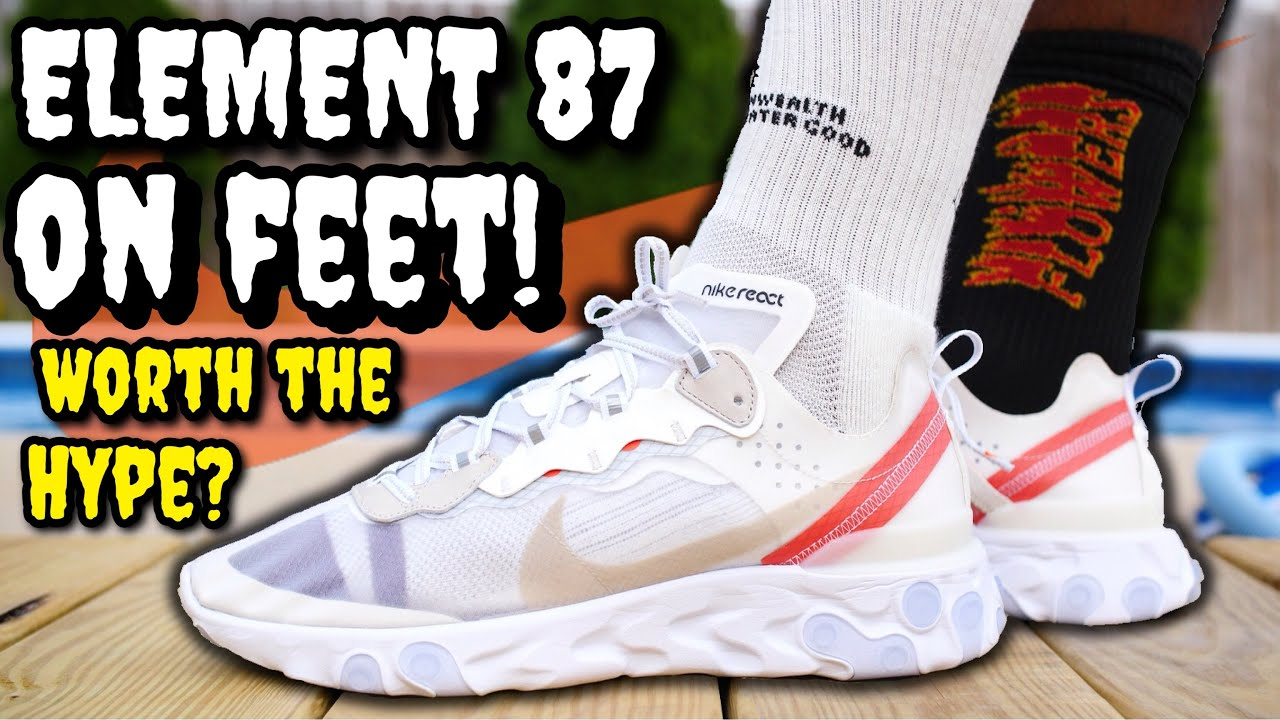 6f7e33801884 NIKE REACT ELEMENT 87 ON FEET REVIEW - EVERYTHING YOU NEED TO KNOW