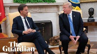 'No': Dutch prime minister awkwardly interrupts President Trump thumbnail