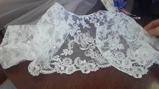Свадебное платье и болеро. Короткое свадебное платье.