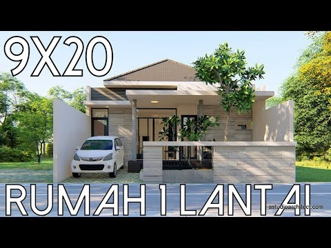 REMAKE Desain Rumah 1 Lantai lahan 9x20m [kode 39B]