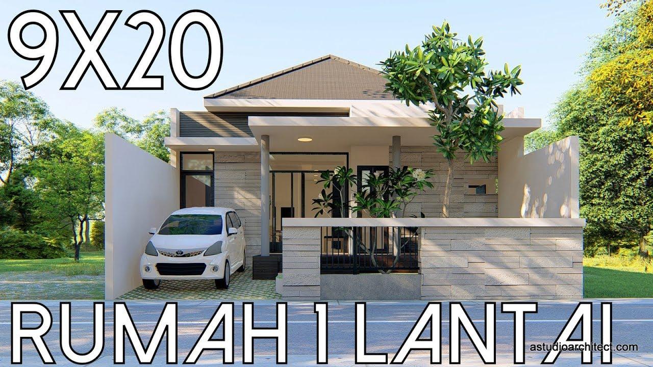 Remake Desain Rumah 1 Lantai Lahan 9x20m Kode 39b Youtube