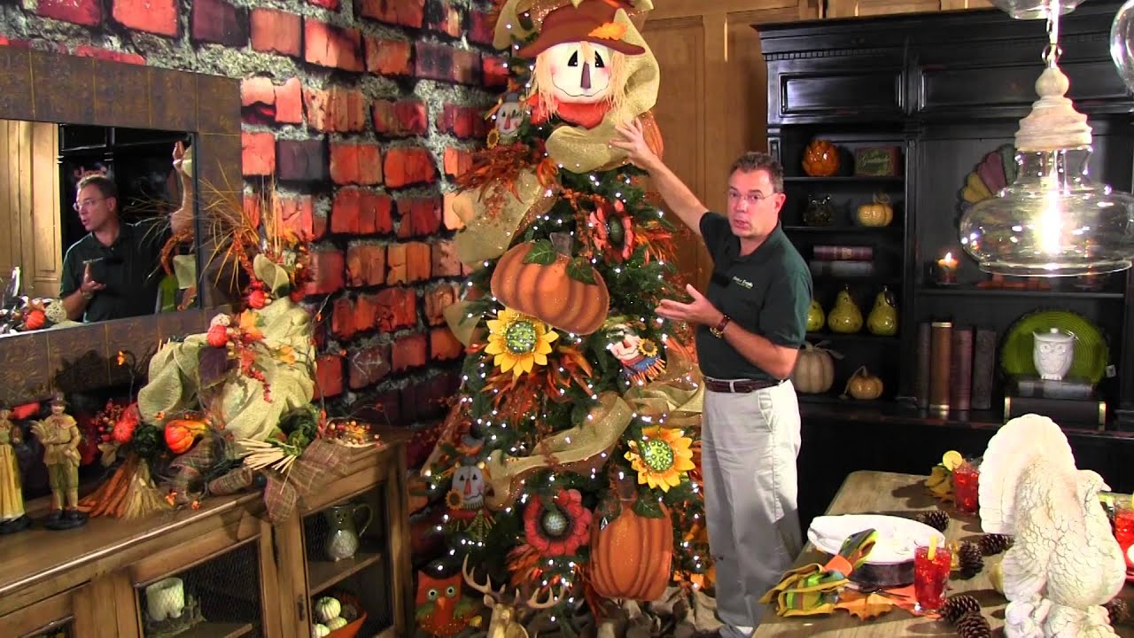 how to decorate a fall or thanksgiving tree youtube