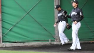 2014.2.8. 藤岡好明投手ブルペン@くにがみ球場