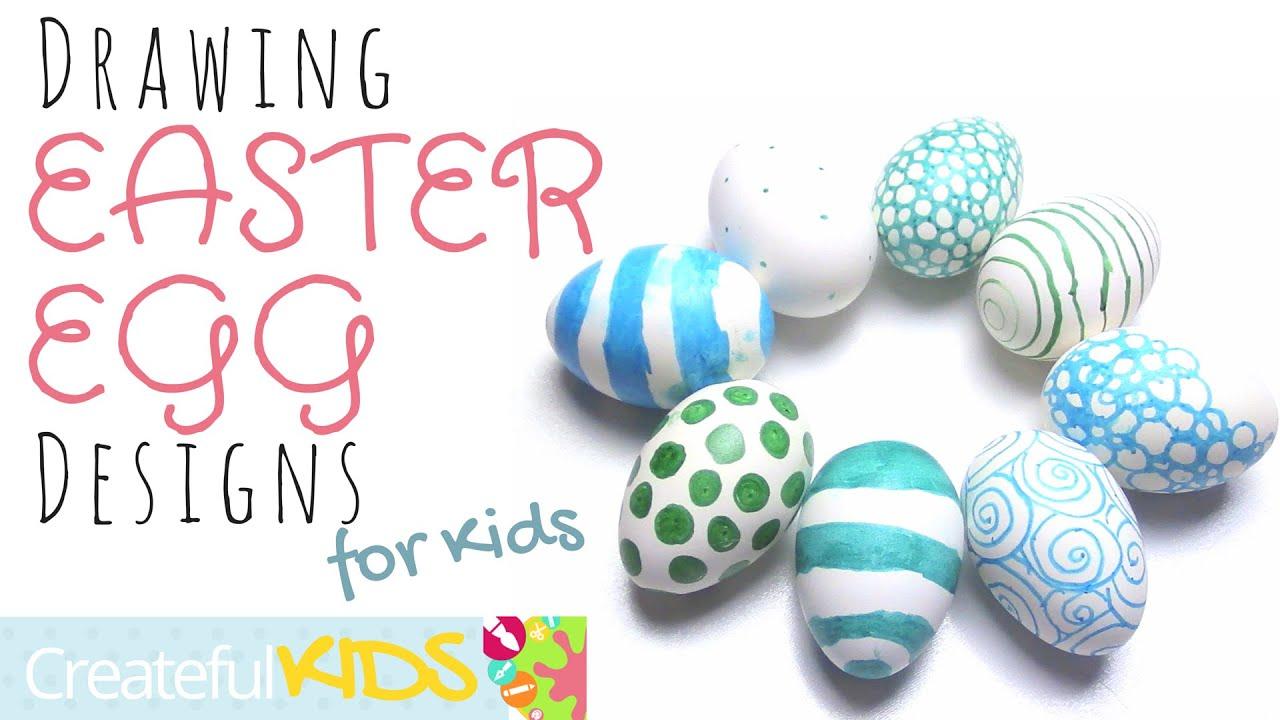 Drawing Easter Egg Designs For Kids