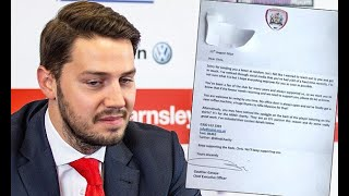 Breaking News -  Barnsley chief executive sends letter to fan with mental health issues