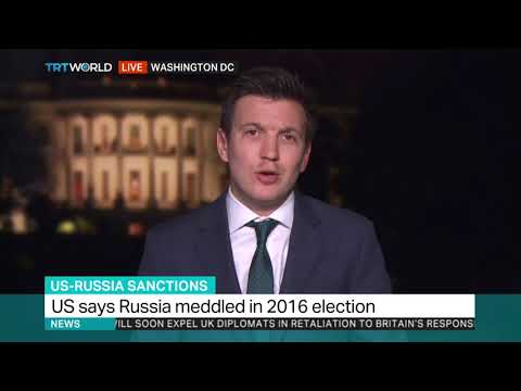 US sanctions Russia for election meddling, hacking
