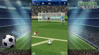 Finger soccer : Football kick