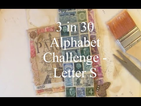 3 Items in 30 Minutes Alphabet CHALLENGE - Letter S - Tutorial thumbnail