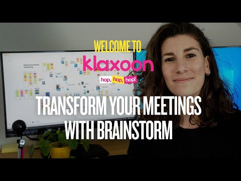 Welcome to Klaxoon :  transform your meetings with Brainstorm