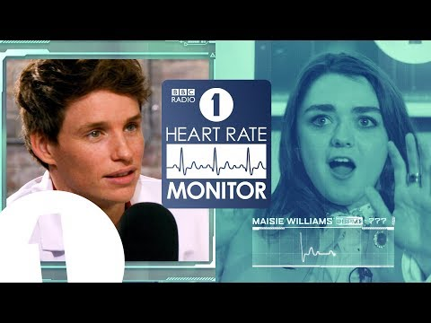 Maisie Williams HEART RATE MONITOR feat. Eddie Redmayne  GAME OF THRONES 'SPOILERS' !?