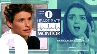 Maisie Williams HEART RATE MONITOR feat. Eddie Redmayne | GAME OF THRONES