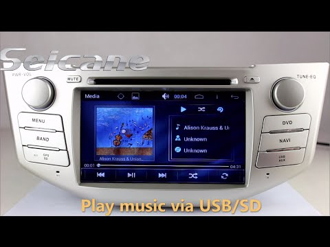 Plug And Play 2007 2008 2009 Toyota Harrier Aftermarket Navigation Dvd Player Audio System With IPOD