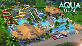 AQUA WORLD WATER PARK [NO CC] || The Sims 4: Speed Build