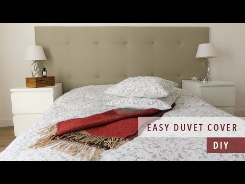 How To Sew A Duvet Cover | Bedding Set Ep. 1