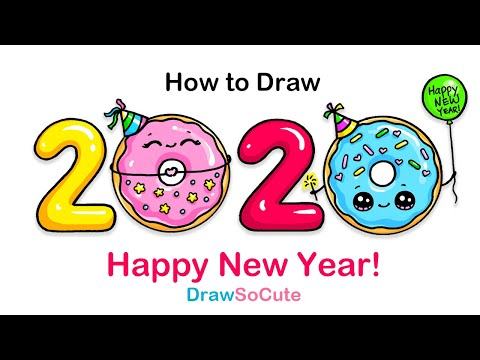 How to Draw 2020 | Happy New Year Art