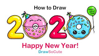 How to Draw 2020 Happy New Year Art