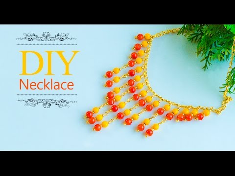 How to make easy necklace at home | Necklace with beads | DIY | jewelry making | Beads art