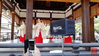 京都祇園祭2018花傘巡行における先斗町(ぽんとちょう)の芸妓さんによる奉納舞踊 thumbnail