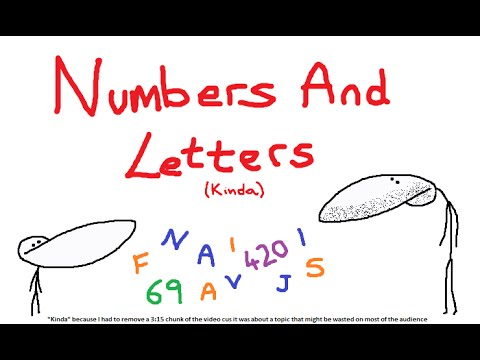 When Letters & Numbers Go Full Retard (+ Lil Possible Channel Update)