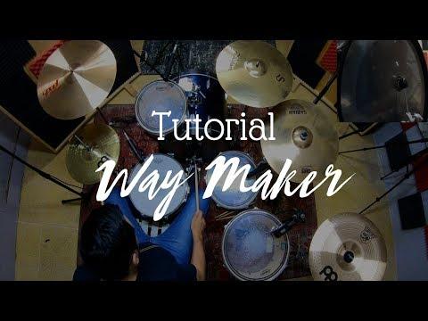 """Waymaker """"Aquí Estás"""" (140 BPM) - (Tutorial Batería)  🎧"""
