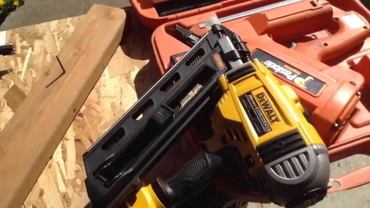 dewalt cordless 20v dcn 690 framing nailer vs paslode and chicago pneumatic part 1