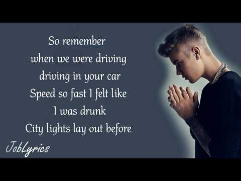 Justin Bieber - Fast Car (Lyrics)