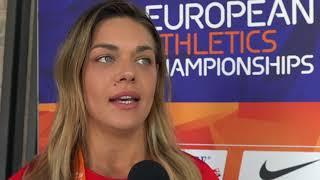 Sandra Perkovic at the press conference of the 2018 European Athletics Championships