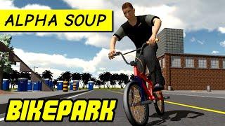 Bikepark: the bmx riders game - PC alpha gameplay on custom map