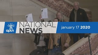 APTN National News January 17, 2020 – Seeking damages for defamation, RCMP exclusion zone
