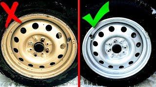 Как Покрасить диски не снимая резины. УНИКАЛЬНЫЙ СПОСОБ. Покраска дисков не снимая с машины.