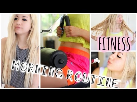 Morning Routine! Fitness/ Workout & Healthy Breakfast!