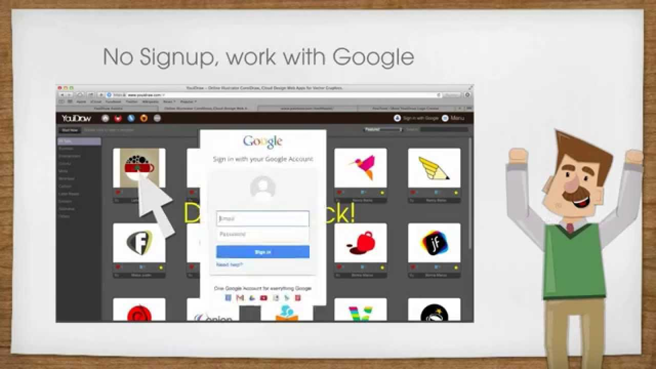 online logo creator vector logo maker youidraw logo creator youtube