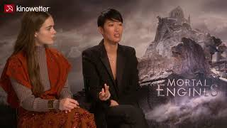 Interview Hera Hilmar & Jihae | MORTAL ENGINES