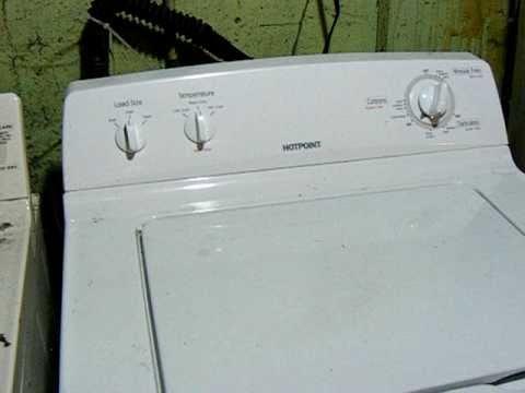 Hotpoint Washing Machine Woes - YouTube on