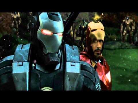 "Iron Man 2 (HD) War Machine Drone Battle Scene - Knife Party ""Bonfire"""