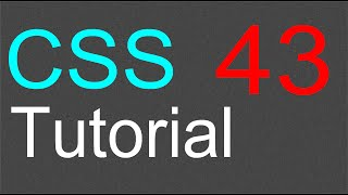 CSS Tutorial for Beginners - 43 - Horizontal menu