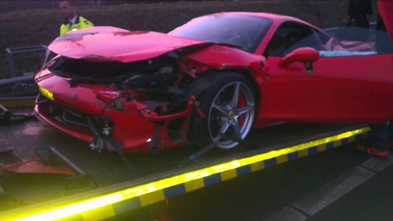 Afrojack Ferrari crash (EXCLUSIVE footage and pictures) - YouTube