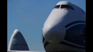 Farnborough Airshow 2018: Loading a CargoLogicAir Boeing 747-8F at FIA18
