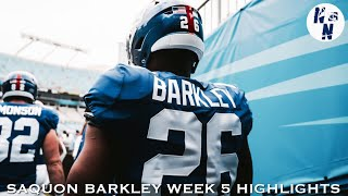 Saquon Barkley Week 5 Highlights   ᴴᴰ   ||   Giants vs Panthers   ||   10/07/18