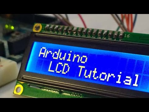 Arduino LCD Tutorial How To Control An LCD - YouTube