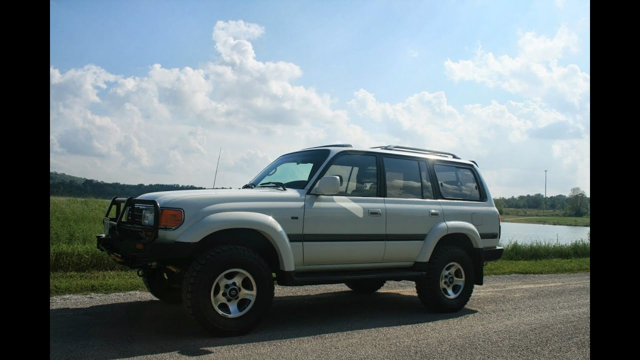 Toyota Of Boone >> 1997 Toyota Land Cruiser Off Road FZJ80. Muddy trail in Daniel Boone National Forrest, Kentucky ...