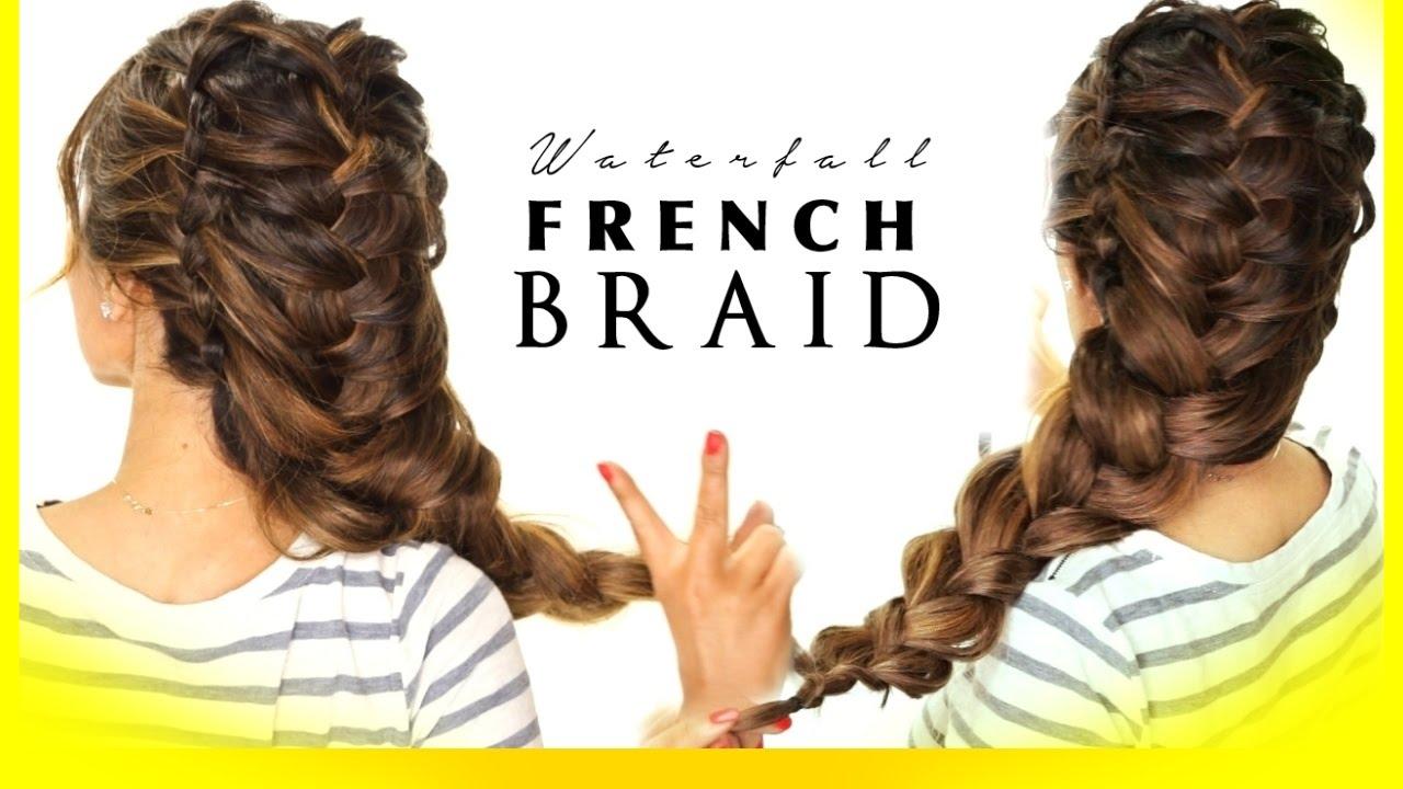 waterfall elsa braid hair tutorial