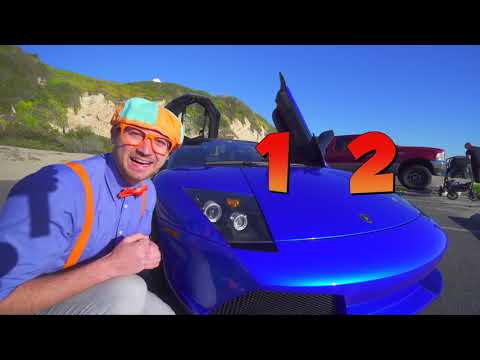 Blippi Toys! The Blippi Lamborghini Race Car Video Learn About Vehicles For Kids