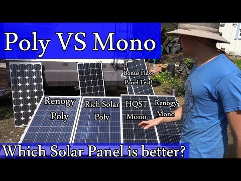 Amazon com Solar Panels: Mono vs Poly - Real World Test