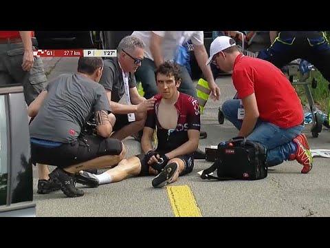 euronews (en español): Thomas sufre una caída en el Tour de Francia