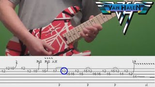Guitar Lesson - Feel Your Love Tonight - Van Halen - solo with tabs!