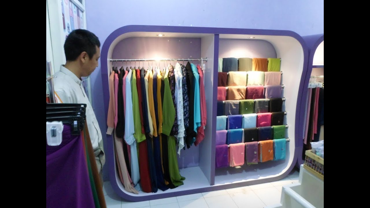 Display Etalase Rak Jilbab  Etalase Hijab Wanita  Display